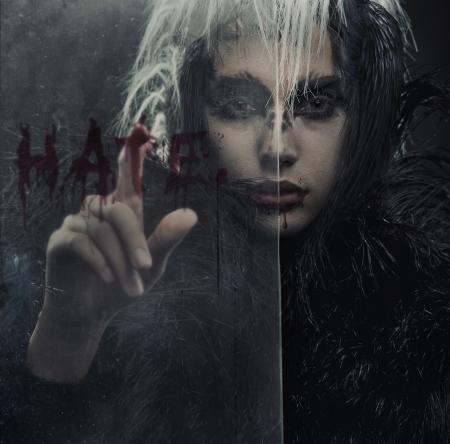 frightful: Portrait of raven-woman