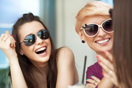 Smiling women photo