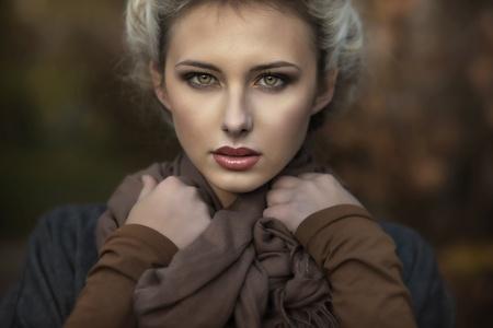 Portrait of a cute blondie photo