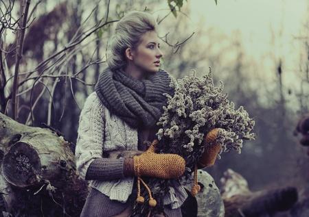Fall lady Zdjęcie Seryjne