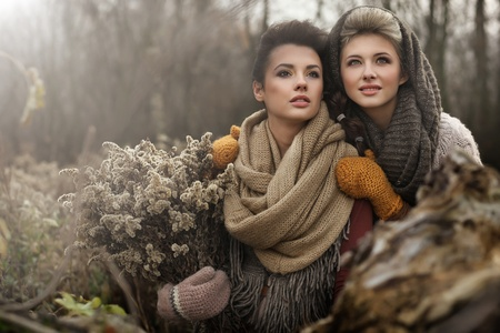 Fine art photo of a two beautiful women photo