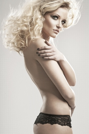 tender tenderness: Portrait of a cute blondie Stock Photo