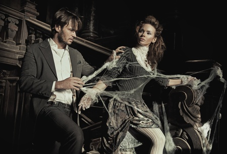 elegant couple: Conceptual image of an elegant couple