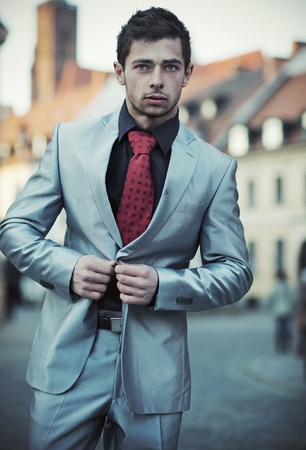 Young elegant businessman Stock Photo - 12075665