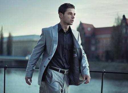street fashion: Handsome man