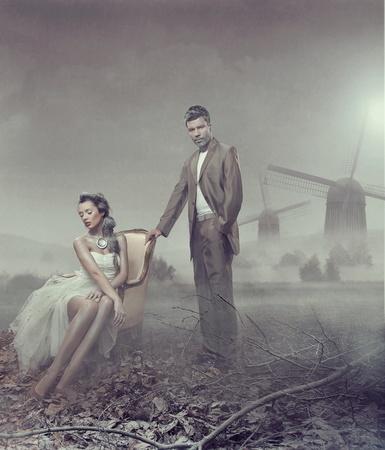 страстный: Мода род фото привлекательной новожен пары