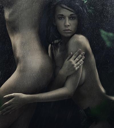 young nude girl: Porträt einer sexy Frauen in der Ausschreibung Leidenschaft