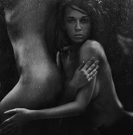 nude wet: Portrait of a sexy women in the tender passion
