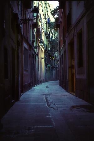 vintage: Foto van oude straat