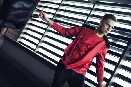 Dynamic photo of a fashionable guy Stock Photo - 13705365
