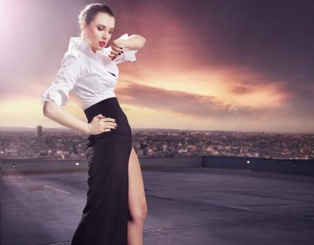 vogue: Stunning brunette beauty