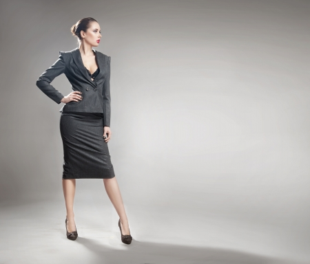 Elegant young businesswoman photo