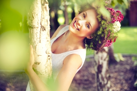 Beautiful smiling woman photo