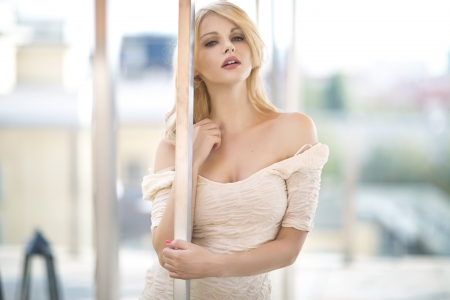 sexual girl: Attractive blonde woman Stock Photo