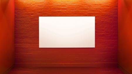 Picture presenting white board in art gallery photo