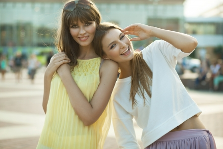 Cheerful young women photo