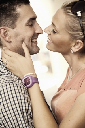 lovers embracing: Fall in love
