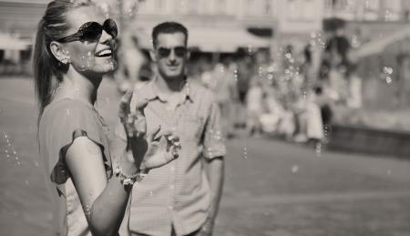 blackwhite: Black-white photo of couple