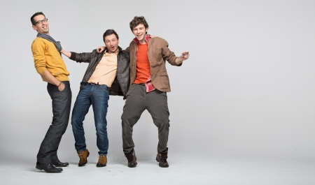 homosexual couple: Male friends having great fun Stock Photo