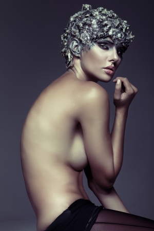 Art picture of naked sensual lady photo