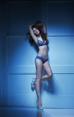 woman lingerie: Sensual young woman in the romantic mood