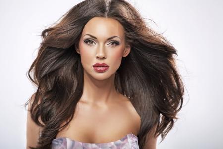 labios sensuales: Gran retrato de una bella mujer perfecta