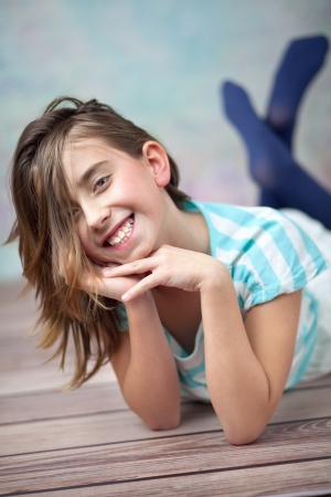 Happy young girl enjoying her spare time Stock Photo - 17014692