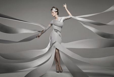 sexy nackte frau: Fashion Foto von einem sexy Br�nette Frau