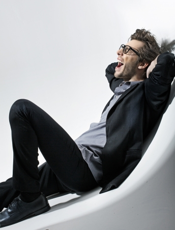 Picture of seated fashion man photo