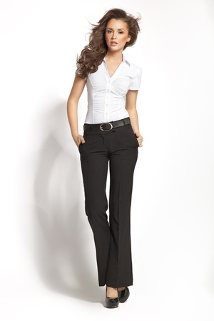 Business style of young adorable woman photo