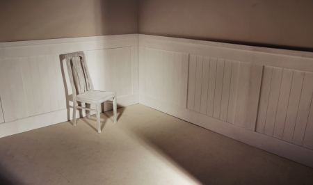 Empty interior with oldfashion chair against wall Stock Photo - 18816648