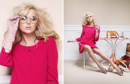 alluring: Alluring blonde woman in nice pose
