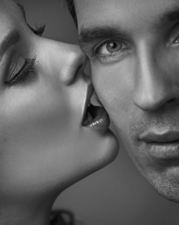 Portrait of a very sensual adult couple Stock Photo - 19566795