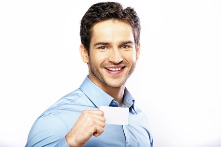 Commercial style picture of handsome man photo