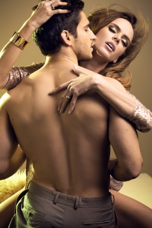 sensuality: Portrait of a spicy, young lovers couple