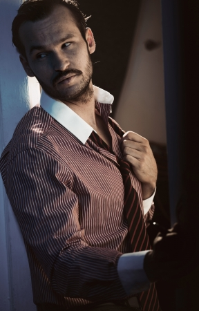 Great shot of handsome adult guy Stock Photo - 19566426