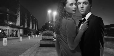 seducing: Bianco e nero foto di belle giovani Archivio Fotografico