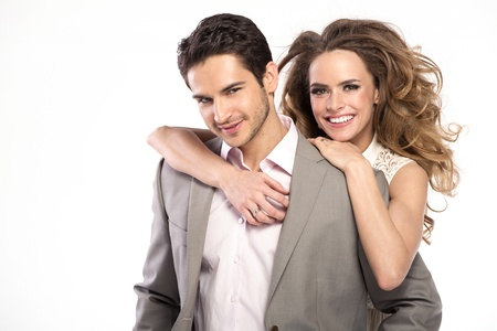 settler: Handsome stylish man with fashionable girlfriend Stock Photo