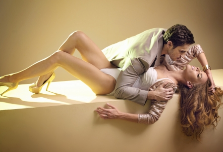 Fabulous photo of sensual young couple Stock Photo - 20619398