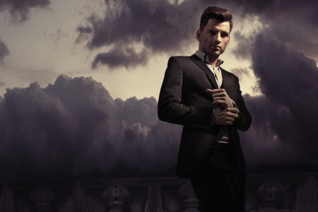 male fashion: Fantasy fashion style picture of a handsome man