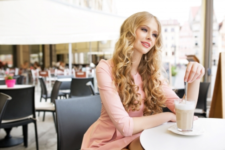 Absolute pretty lady during coffee break Stock Photo - 20771218