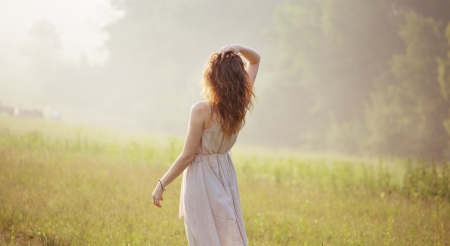 Young lady staring into the distance Stock Photo - 20784838