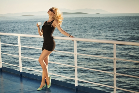Blonde alluring lady during the holidays Stock Photo - 22306225