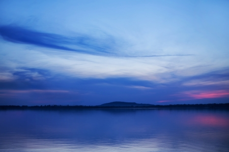 Art photo of the sunset over the lake Stock Photo - 22311695