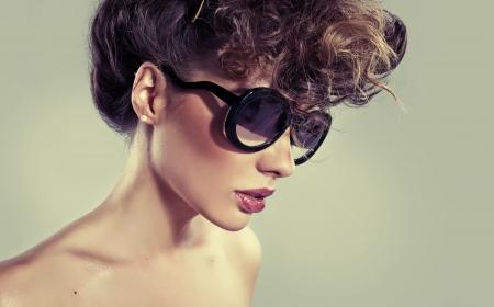 Sensual classic woman with big amazing lips Stock Photo - 23960849