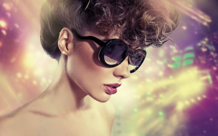 Art picture of lady with stardust Stock Photo - 23960876