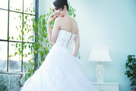 tempting: Tempting bride waiting for her beloved husband