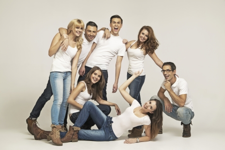 Big group of laughing people Stock Photo - 24209901