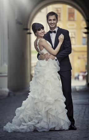 appealing attractive: Attractive marriage couple in nice love pose