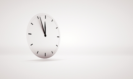 Abstract picture presenting big white clock photo